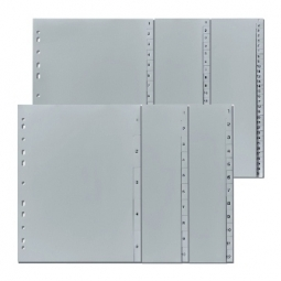 DIVIDER HERLITZ A4 PLASTIC INDEX A-Z GREY 10843522