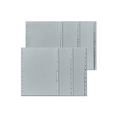 Divider Herlitz A4 Plastic W/Tabs Index A-Z Grey 10843522