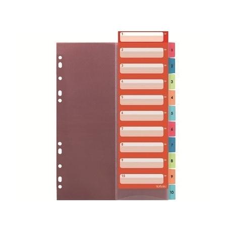 Divider Herlitz A4 Plastic W/Tabs Index 1-10 10913929