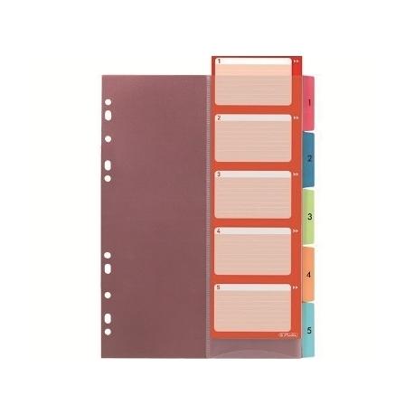 Divider Herlitz A4 Plastic W/Tabs Index 1-5 10913689
