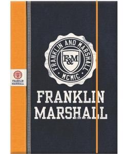 File Cardboard 3Flaps W/ Elastic Franklin & Marshall