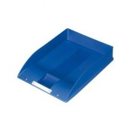 LETTER TRAY HERLITZ A4 SQUARE W/LABEL BLUE 10198034