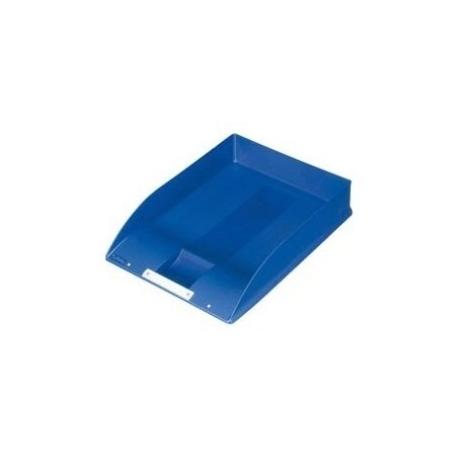 Letter Tray Herlitz A4 Square W/Label Blue 10198034