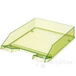 LETTER TRAY HERLITZ A4 TRANSPARENT LIGHT GREEN 10778421