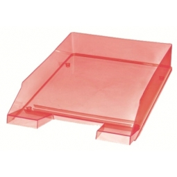 LETTER TRAY HERLITZ A4 TRANSPARENT ORANGE 10778447