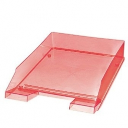 LETTER TRAY HERLITZ A4 TRANSPARENT RED 10778454