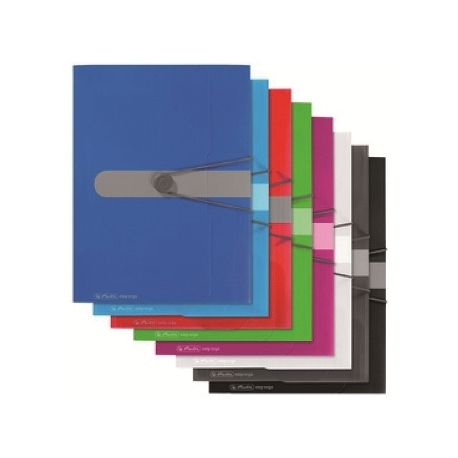 Folder W/3 Flaps And Elastic Herlitz Pp A4 Opaque Blue 11205994