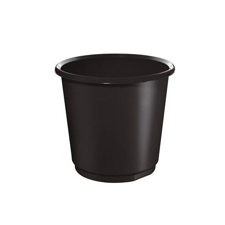 Waste Basket Herlitz 18 Liter Round Black 11279205