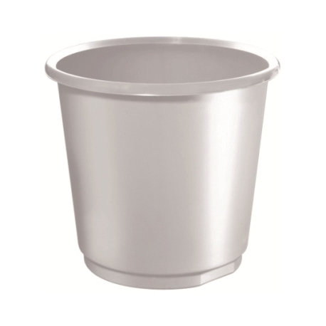 Waste Basket Herlitz 18 Liter Round Grey 11279221