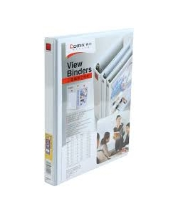 Ring Binder Comix A4 2 Rings 0.5 16Mm White A209