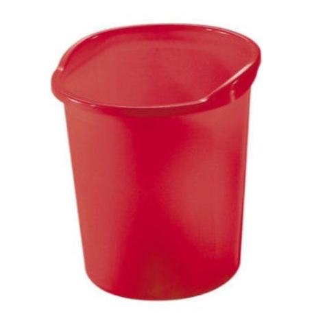 Waste Basket Herlitz W/ Grip 13 L Dark Red Transparent 10653863
