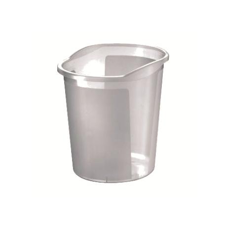 Waste Basket Herlitz W/ Grip 13 L Grey Transparent 10493781