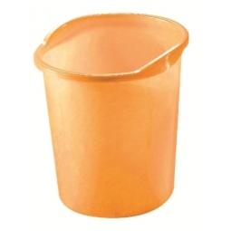 Waste Basket Herlitz W/ Grip 13 Light Orange Transparent 10653855