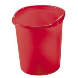Waste Basket Herlitz W/ Grip 13 Light Red Transparent 10653830