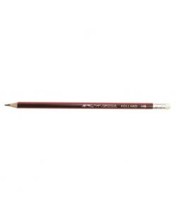 Pencil Bruynzeel Black Red With Eraser 1716Khb Dz