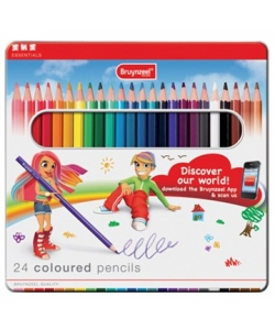 Colored Pencil Bruynzeel Basic 24/Pack Tin