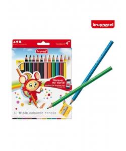 Colored Pencil Bruynzeel Triple 12/Pack