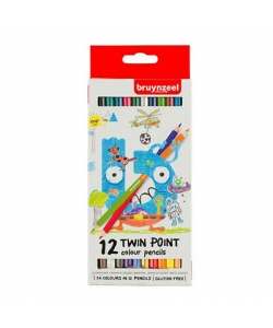 Colored Pencil Bruynzeel Twin Points 12/Pack 60112001