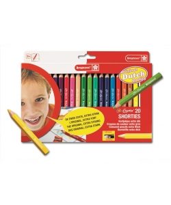 Colored Pencil Bruynzeel Short Thick 20/Pack 60112020
