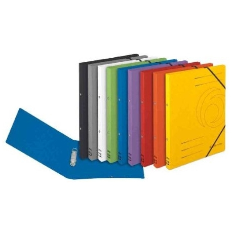 Ring File Herlitz A4 Colorspan W/Elastic Yellow 11255486