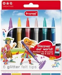 Marker Bruynzeel Glitter 6/Pack 60126006
