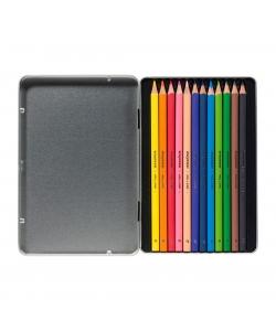 Colored Pencil Bruynzeel Trio Soft 12/Pack Dark Tin 60212001