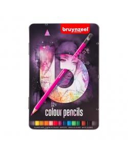 Colored Pencil Bruynzeel Trio Soft 12/Pack Light Tin 60212002