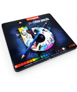 Colored Pencil Bruynzeel 24/Pack Dark Tin 60212024