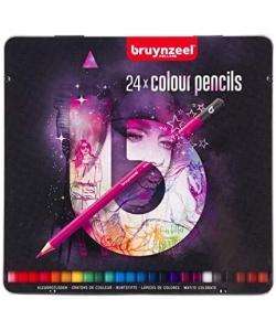 Colored Pencil Bruynzeel 24/Pack Light Tin 60212124