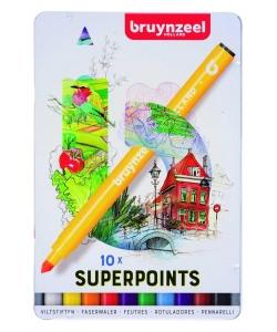 Marker Bruynzeel Super Point 10/Pack 60324010
