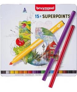 Marker Bruynzeel Super Point 15/Pack 60324015