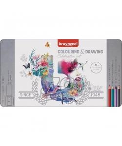 Colored Pencil Bruynzeel 70/Pack Celebration Tin 60399001