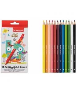 Colored Pencil Bruynzeel Mega 12/Pack 60517012