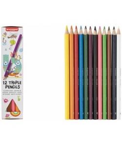 Colored Pencil Bruynzeel Triple 12/Pack 60518012