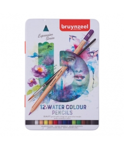 Colored Pencil Aquarelle Bruynzeel Expression 12/Pack 60313012