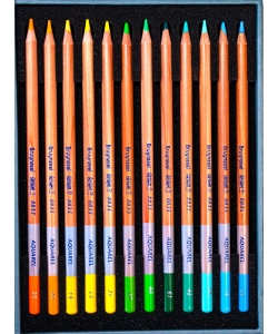 Colored Pencil Aquarelle Bruynzeel Mxz Tin 12 Color 3540M12