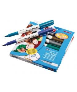 Felt Pen Bruynzeel Metallic Brush Points Set 6 Tips 7965K06C