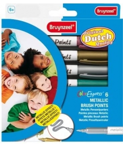 Felt Pen Bruynzeel Metallic Brush Points Set 6 Tips 7965K06C