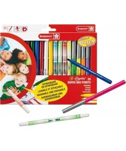 Felt Pen Bruynzeel Super Mix Points Set 20 Tips 3005K20C