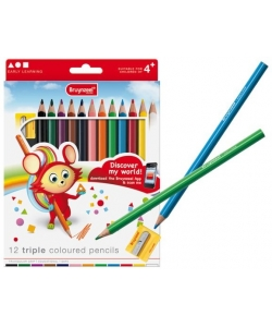 Colored Pencil Bruynzeel Triple Set 12 Colors Express 3305K13C
