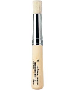 Davinci Brush Stencil Short Plainwood Handles 111 . Size 10