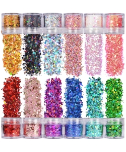 Glitter Powder My Jumbo Flake Metallic Holographic Red Bg-309Al