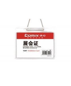 Name Badge Comix Horizontal 90X115Mm Soft W/Lanyard Transparent T2557