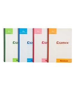 Notebook Comix A5 Ruled 50Sh Spiral Assorted C4514