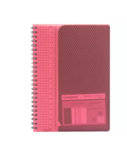 Notebook Comix Diamond A5 Squared 50Sh Pp Spiral Red C7109
