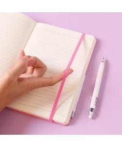 Notebook Comix A5 Ruled 122Sh Linen Cover W/Gel Pen L.Blue C5904T