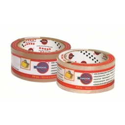 ADHESIVE TAPE EUROCEL 5CMX66M BROWN ACRYLIC PP36 1PC