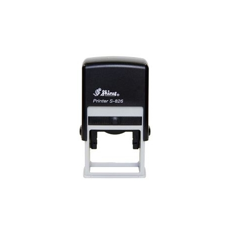 Stamp Shiny S826 41X24Mm Black