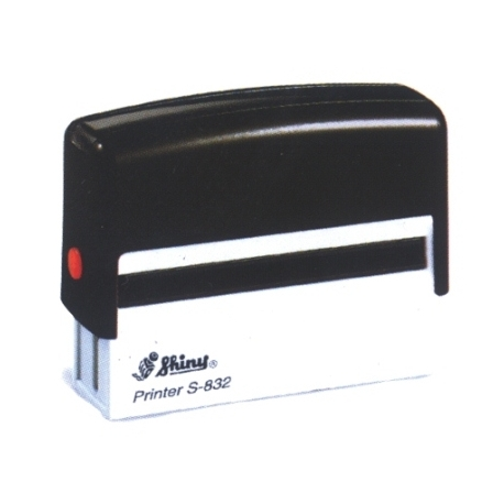 Stamp Shiny S832 75X15Mm Black