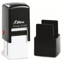 Stamp Shiny S520 20X20Mm Black